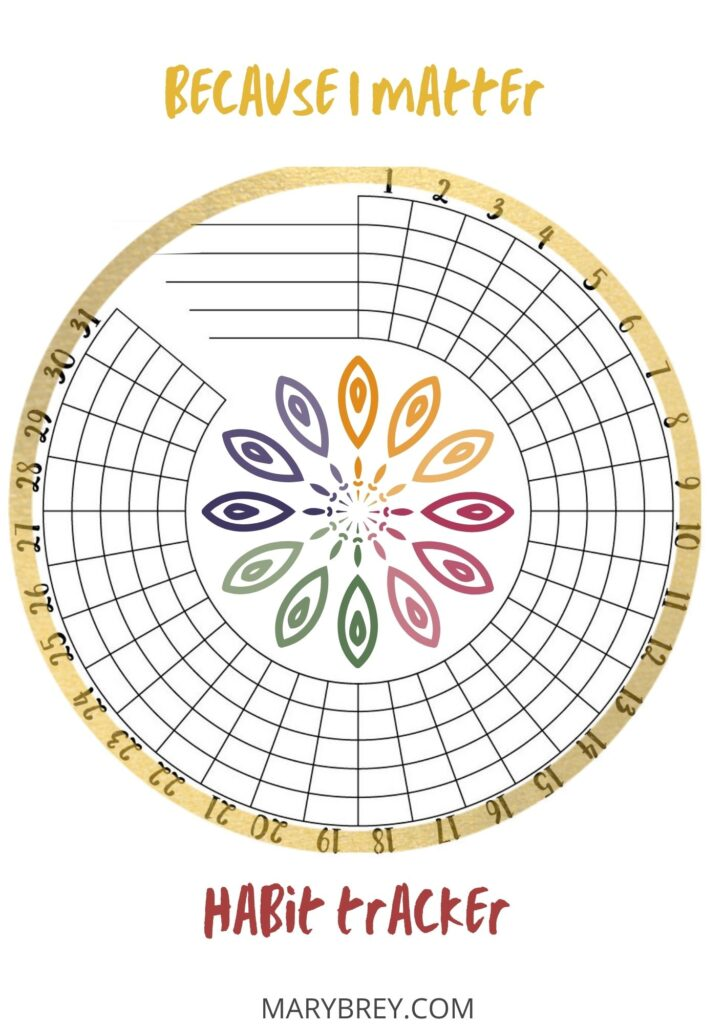 circular habit tracker with mandala
