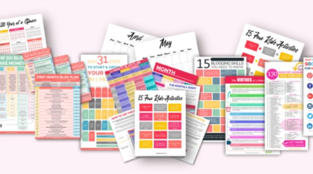 images of different types of printables to make and sell