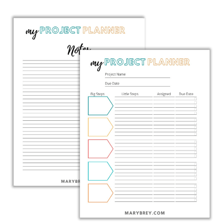 image of planner printable