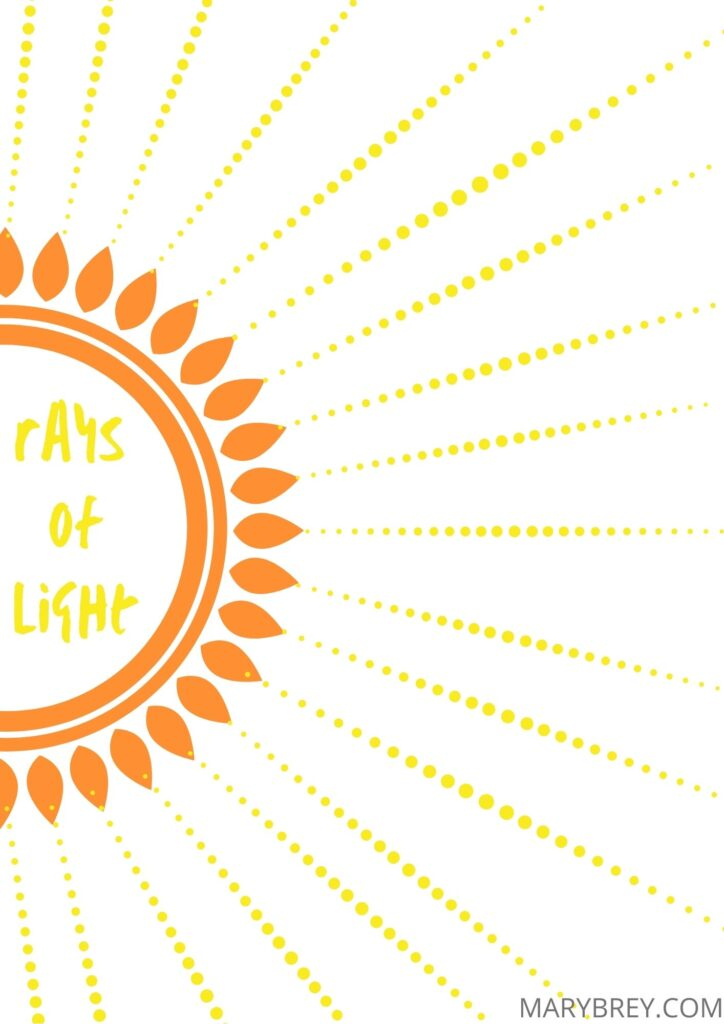 Rays of Light gratitude tracker