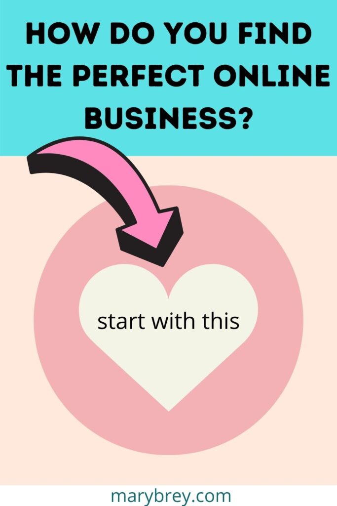 how do you find the perfect online business? start with your heart
