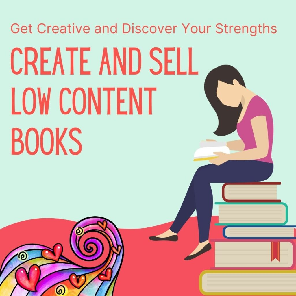 create and sell low content books
